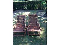 Deckchairs (2) Eucalyptus oiled wood
