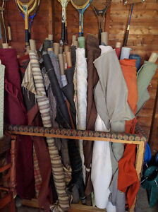 Several rolls of good quality upholstery 5. - 25. ea. roll