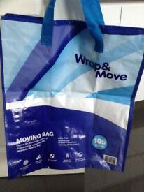 3 Unused Moving/Storage 105 ltr bags