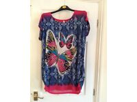 Butterfly tunic top