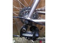 Titanium frame road bike
