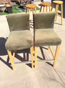 Pair of Bar Stools, Cushioned with removal covers