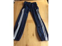Adidas tracksuit bottoms slim fit aged 13-14 good used condition