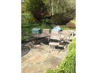Patio Table and Six Chairs, £200