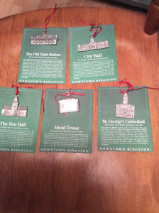 First Edition Pewter Kingston Tree Ornaments