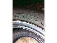 Tyre 255/60/18 4x4