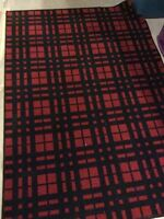 Area rug red & black 4 x 6'