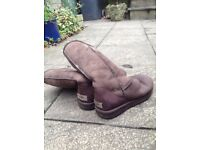 UGG boots size 8, tall classic, brown suede, good condition