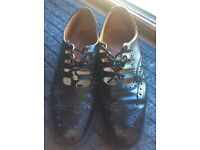 Ghillie brogues, kilt shoes, leather brogues, size 10