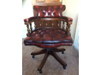 Chesterfield Leather Style Office Chair