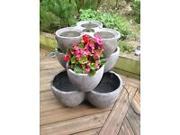 Very heavy glass reinforced concrete planter water feature