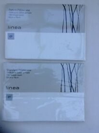 House of Fraser Linea ivory coloured two pairs of pillowcases