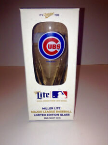 Chicago Cubs 2015 Miller Lite Beer Glass Baseball Limited Ed