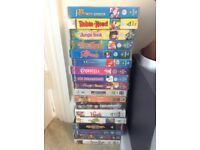 Stack of mostly Disney VHS's