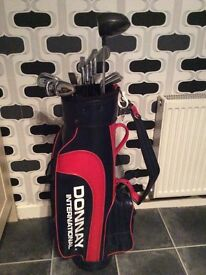Donnay international golf bags and clubs.