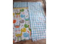 Complete toddler bedroom set including curtains, sheets, pillowcases, .........