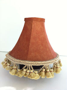 Fabric Couture Brown Caramel Shade with Gold Crown Tassel Fringe Peterborough Peterborough Area image 2