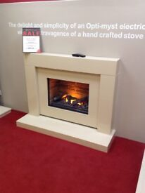 The Bali Suite in Sion Micromarble with Opti-Myst Flame effect