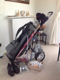 Donnay pro golf set with extras.