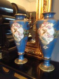 Large vintage antique pair noritake vases