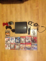 320GB PS3 Slim 14 games 3 controllers + playstation move