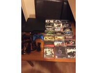 Sony PS3 console with 21 games bundle look.