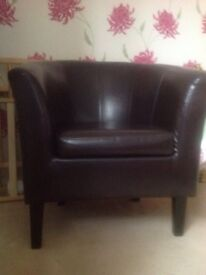 Faux leather tub chair armchair perfect condition