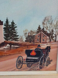Canadian Amish Painting St Agatha Ontario local artist.