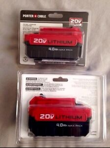 BRAND NEW 20V Max 4.0Ah Porter Cable Battery