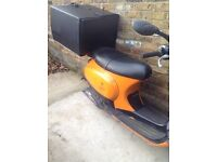 Vespa et50 for parts and repair engine still works log book and keys present