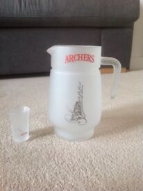 ARCHERS JUG AND SHOT GLASS