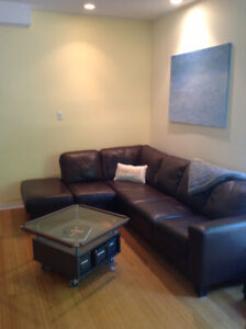 Used Leather Palliser Sectional