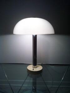 Lampe retro vintage 1970 chrome plastique blanc