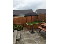 Parasol for garden with matching heavy quality base complete