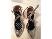 Myleen Klass gold high heels size 6