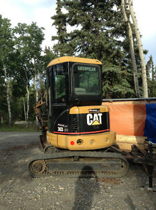 cat 303 CR mini excavator