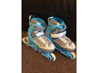 Oxelo (Decathlon) Extendable Inline Rollerskates 10.5 - 13 RRP £29.99