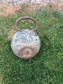 Old boating ship mud weight decotrative item