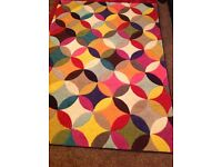 Beautiful colourful rug, size 120x170.