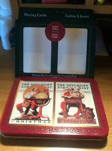 Norman Rockwell Limited Edition Cards W/Tin 2 Sets *NEW* 1996