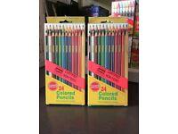 COLOURED PENCILS- ARTIST Quality - 24 per box. TOP Quality