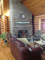 Waterfront log home for sale - Hearst Ontario