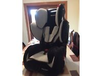 Recaro young sport children's car seat black and silver