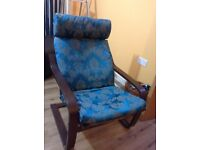 IKEA recliner chair and rocking chair