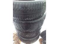 4 X 225/55-16 winter tyres.