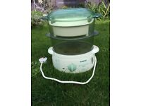 Steamer with added rice steamer bowl
