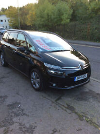 CITROEN GRAND C4 PICASSO DIESEL 7 SEATS MANUAL 1.6e-HDi ( 115 BHP ) EXCLUSIVE +