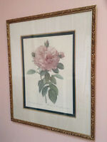 Two (2) Bombay Company Flower Prints
