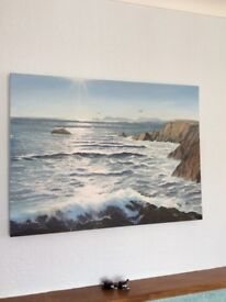 Pembrokeshire Coast Gallery Painting 1m X .75m Perfect Special Christmas Present worth £1200
