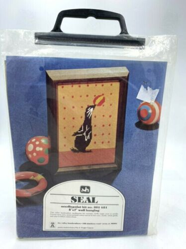 NEW Valley Handcrafters Seal Needlepoint Kit 301 421 Vintage